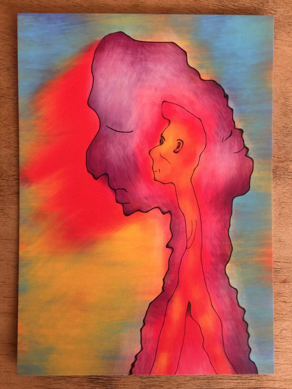 """Inside Man"" Art Card by Daniel Leighton"